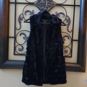 Soft Faux Fur Long Vest with Open Front